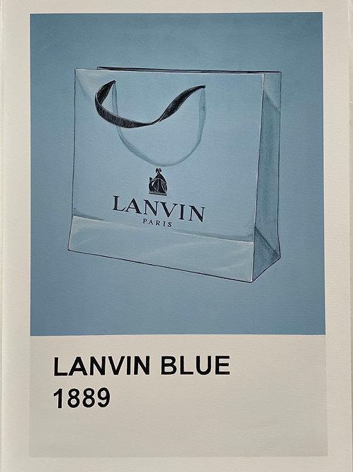 Lanvin Blue bag print from Anne-Marie Ellis Contemporary art artwork at Deep West Galle