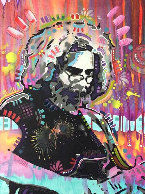 Jerry Portrait Spray painting, Street art by Dean Russo at Deep West Gallery
