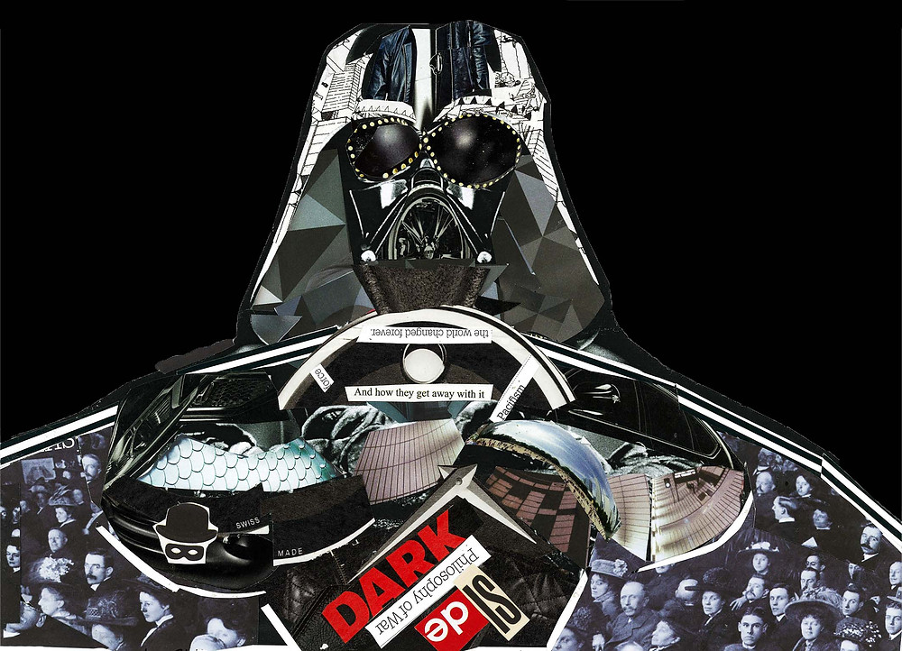 Dark Vader, star wars, collage prints