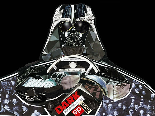 Darth Vader's portrait print ( Star Wars )from Glil Collage artwork at Deep West Gallery