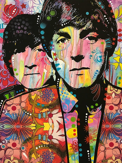 Lennon and McCartney Portrait, Giclee print, Street art by Dean Russo at Deep West Gallery