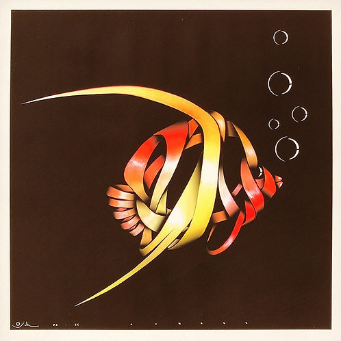 Goldfish, ribbons, Giclee print from Otto Schade street artworks at Deep West Gallery