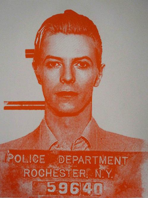David Bowie portrait silk print, urban art by David Studwell at Deep West Gallery
