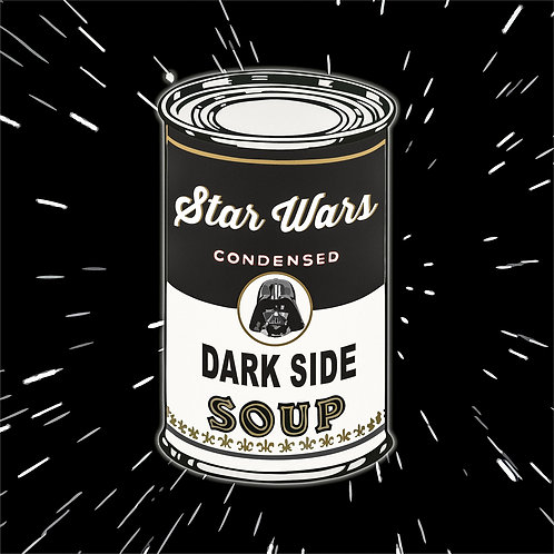 black soup, star wars portrait, Giclee print from Tony Leone, digital and Pop art artwork at Deep West Gallery