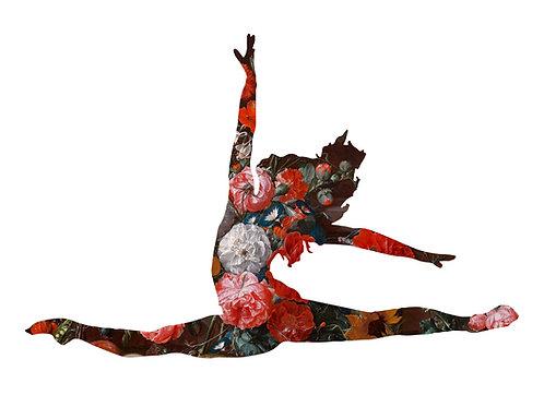 Flower portrait of ballet Dancer, Urban art by Agent X at Deep West Gallery