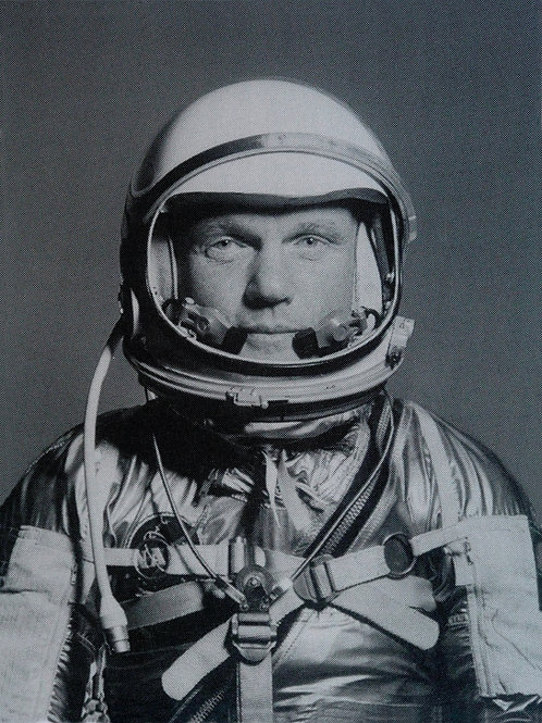 spaceman portrait screen print, urban art by David Studwell at Deep West Gallery