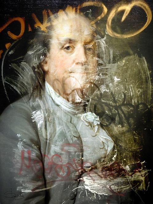 Benjamin portrait, Giclee print from Slasky, Urban art artwork at Deep West Gallery