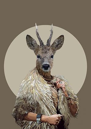 hybrid antelope print from Paul Kingsley Squire Urban art artwork at Deep West Gallery