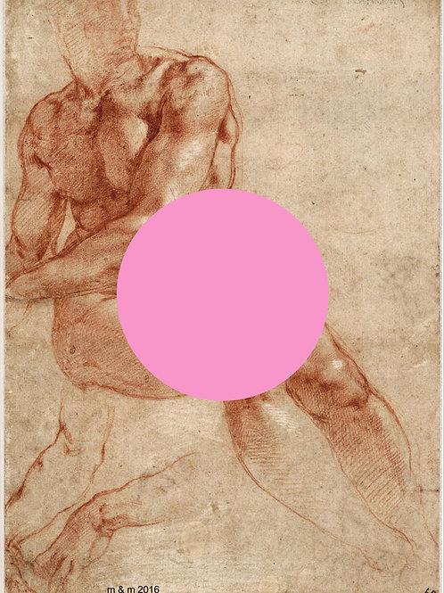 Michelangelo Portrait,  giclee print - Metrov. contemporary artwork ,at Deep West Gallery