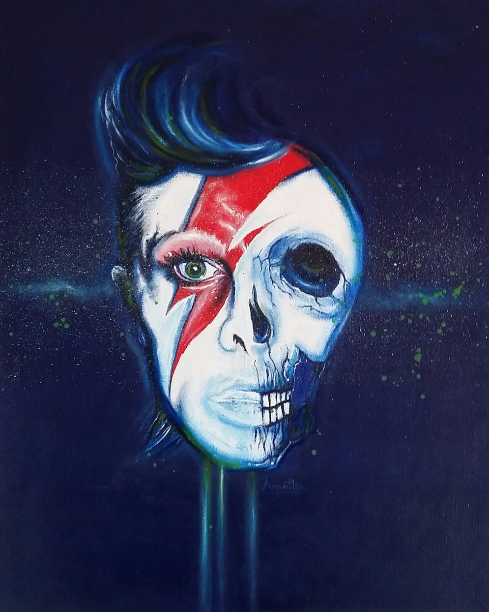 """David Bowie Skull 