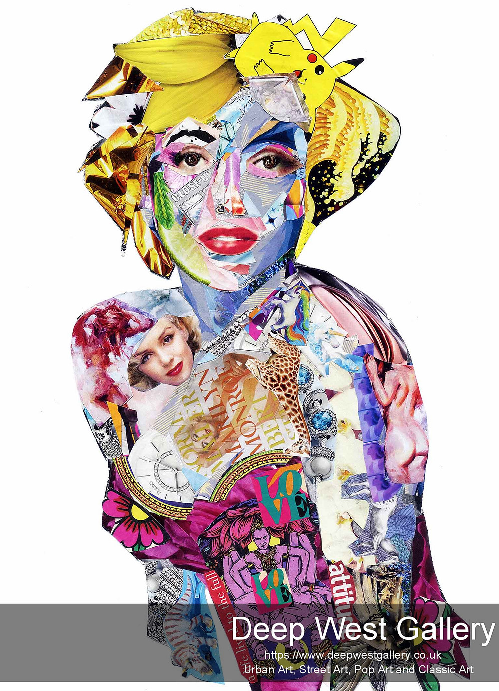 Marilyn Monroe - collage print