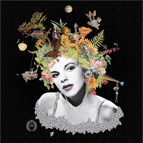 Dorothy Portrait  collage print - Maria Rivans artwork at Deep West Gallery