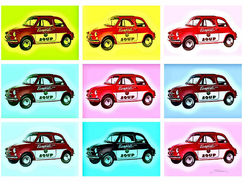 500 soup car  Giclee print from Tony Leone, Digital and Pop art artwork at Deep West Gallery