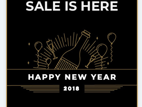 New Year's Sale is Here