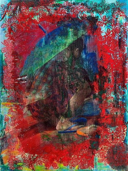 Burmese Captain original painting, urban art from Pav Szymanski at Deep West Gallery