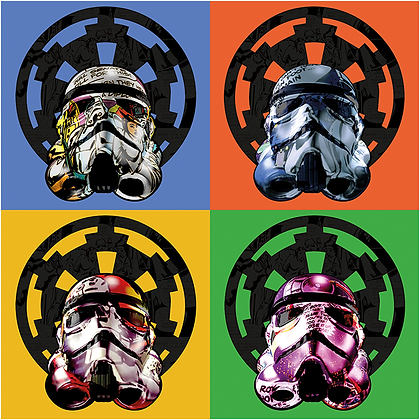 Quad Trooper from Star Wars giclee print, digital art & Pop art by David Williamson at Deep West Gallery