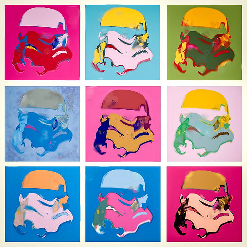 Clone, Star wars portrait, Giclee print from Tony Leone, Digital and Pop art artwork at Deep West Gallery