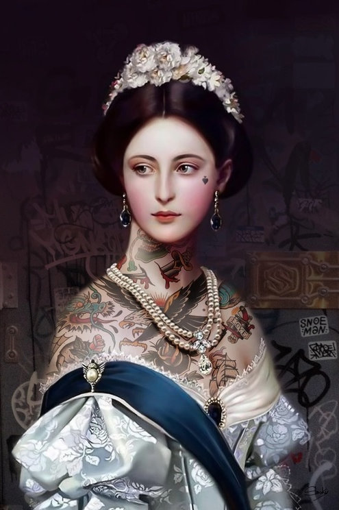 Maria portrait, Giclee print from Slasky, Urban and Street  art artwork at Deep West Gallery