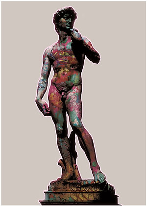 The Statue of David giclee print, digital art & Pop art by David Williamson at Deep West Gallery