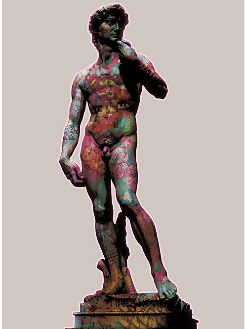 The Statue of David giclee print, digital art & Pop art by David Williamson at Deep West Gallery