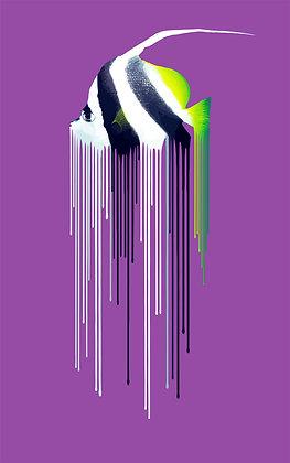 bannerfish - Purple, Giclee print, Pop art, Urban art,  by Carl Moore at Deep West Gallery