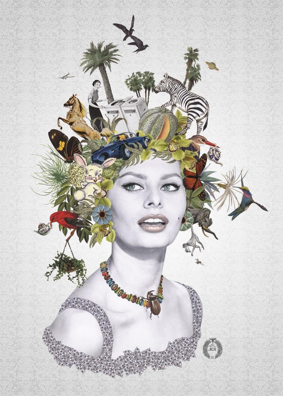 Collage Print Version (Sophia Loren)