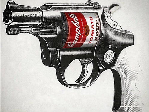 Soup Gun, Giclee print from Tony Leone, Digital and Pop art artwork at Deep West Gallery