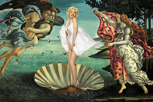 Birth of Marilyn Giclee print from Tony Leone, Digital and Pop art artwork at Deep West Gallery