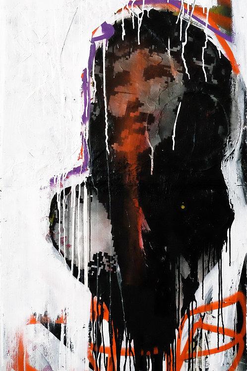 clubbers spray painting from Zsolt Gyarmati Street (Graffiti ) original artwork at Deep West Gallery