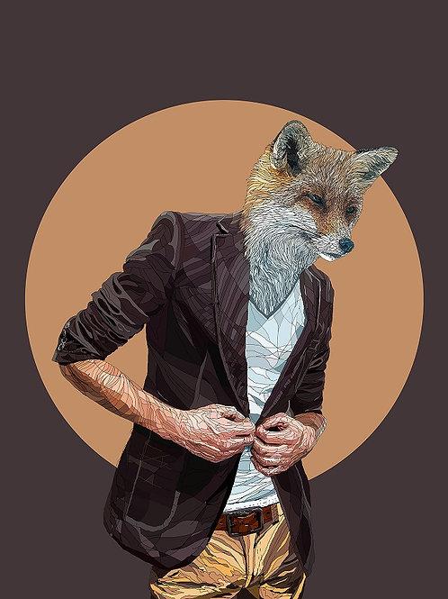hybrid  wolf print from Paul Kingsley Squire Urban art artwork at Deep West Gallery