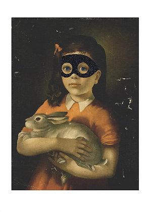 Girl With Bunny (Diamond Dust eye mask)