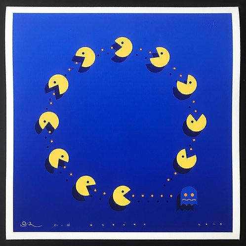 Pac Man, ghosts giclee print from Otto Schade Street (Graffiti ) artwork at Deep West Gallery