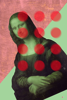 Monalisa Portrait,  giclee print - Metrov. contemporary artwork ,at Deep West Gallery