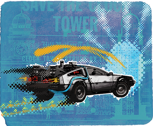 Car, from back in Time, giclee print, digital art & Pop art by David Williamson at Deep West Gallery