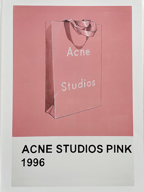 Acne Pink bag print from Anne-Marie Ellis Contemporary art artwork at Deep West Galle