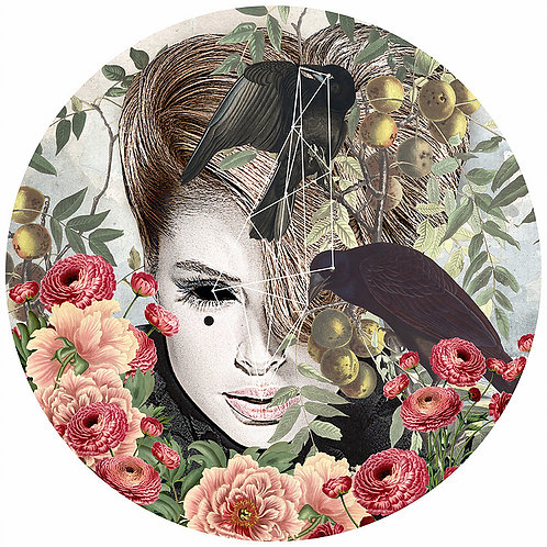 sexy beauty portrait with birds, flowers, Street art, Urban art from Alexandra Gallagher at Deep West Gallery
