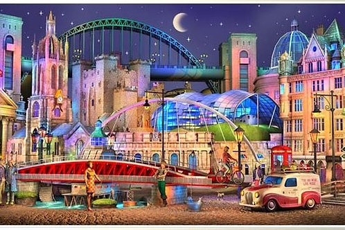 Newcastle city  landscape print,  Keith Drury 's Urban artworks at Deep West Gallery