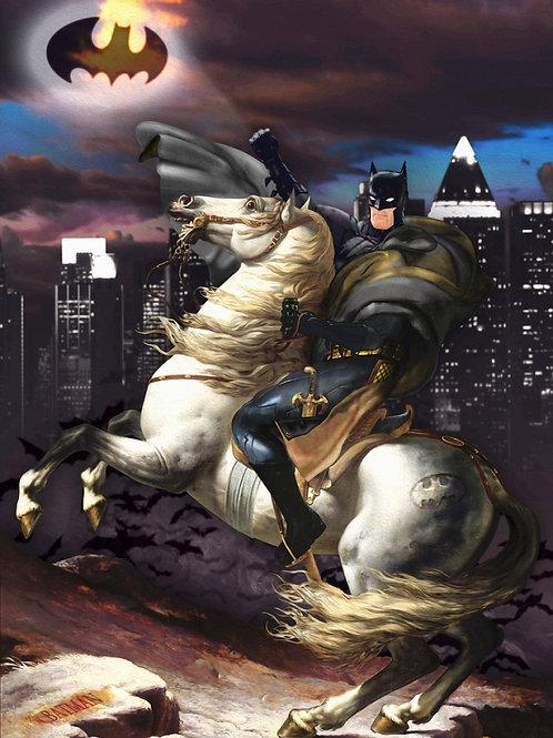 White horse, Batman from Gary John Jones digital artwork at Deep West Gallery