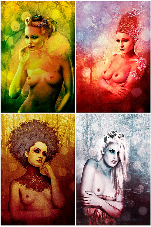 Sexy -Four Seasons beauty portrait - Urban art by Deadmansdust at Deep West Gallery