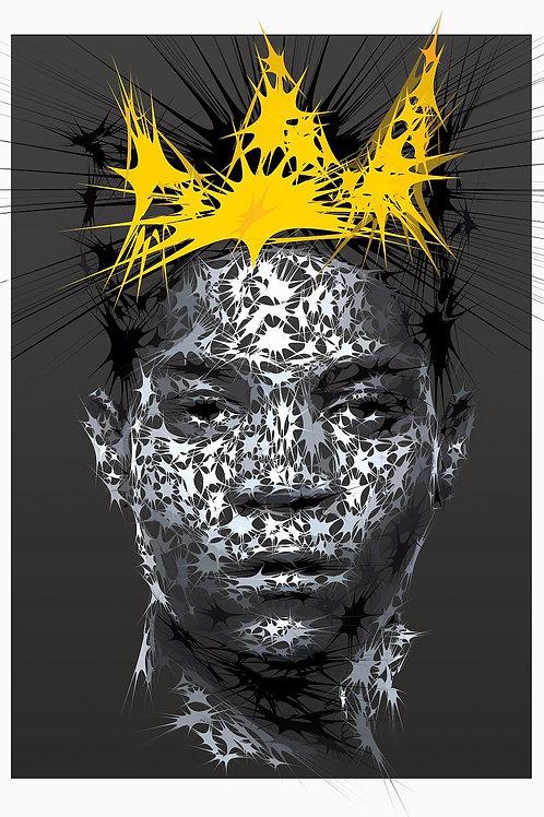 Jean Michel portrait, Digital art, urban artwork by Andrea Visconti at Deep West Gallery