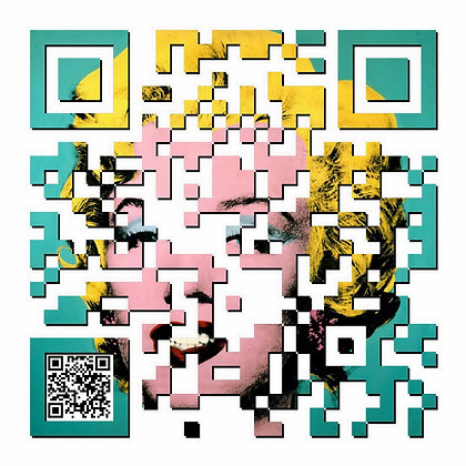 Marilyn QR movie poster, Giclee print from Tony Leone, Digital and Pop art artwork at Deep West Gallery