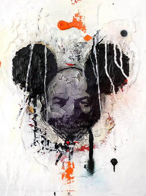 Assimilation mouse  spray painting from Zsolt Gyarmati Street (Graffiti ) original artwork at Deep West Gallery