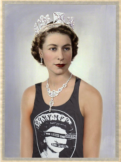 God save the Queen  Giclee print from Tony Leone, Digital and Pop art artwork at Deep West Gallery