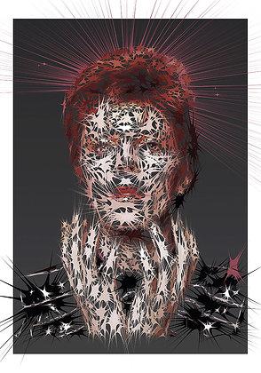 Space man portrait, Digital art, urban artwork by Andrea Visconti at Deep West Gallery