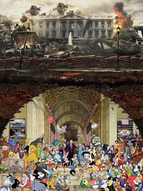 Donald Trump - US president from Gary John Jones digital artwork at Deep West Gallery