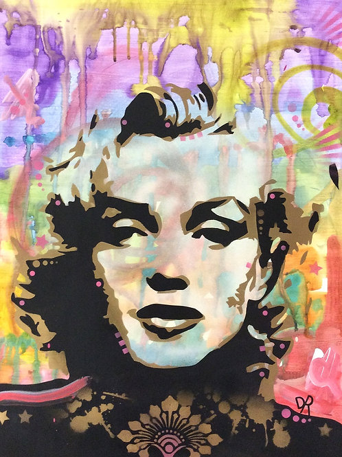 Marilyn Portrait Spray apainting, Street art by Dean Russo at Deep West Gallery