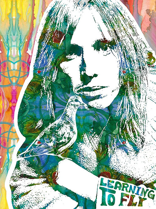 Tom Petty Portrait, Giclee print, Street art by Dean Russo at Deep West Gallery