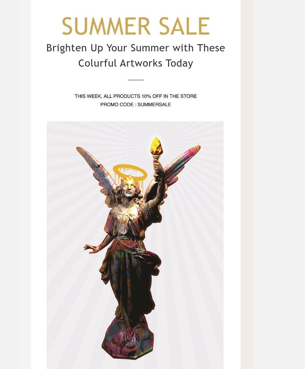 summer sale, promo code