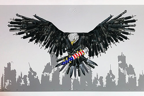 Eagle, missile, usa ,giclee print from Otto Schade Street (Graffiti ) artwork at Deep West Gallery