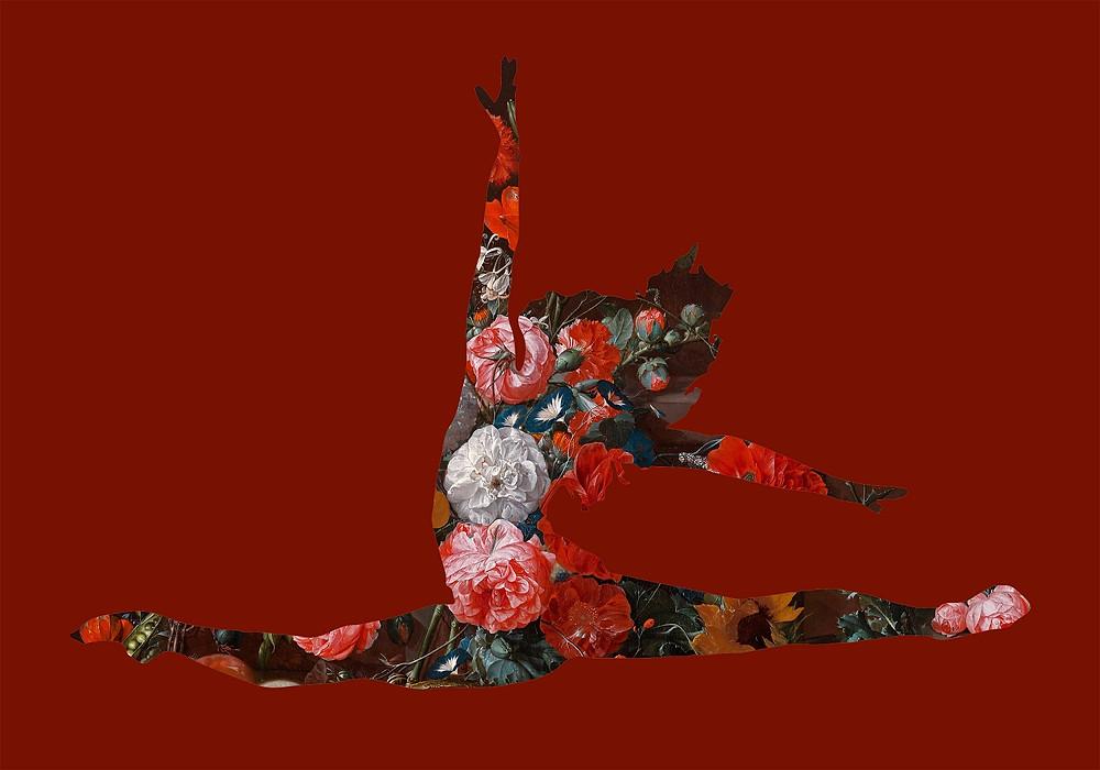 Ballet Dancer, Print, Red